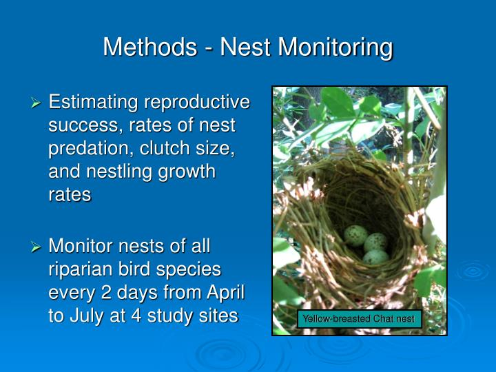 Methods - Nest Monitoring