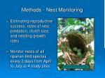 methods nest monitoring