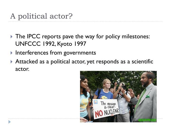 A political actor?