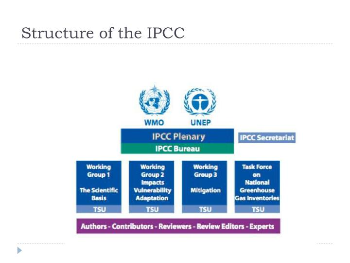 Structure of the IPCC