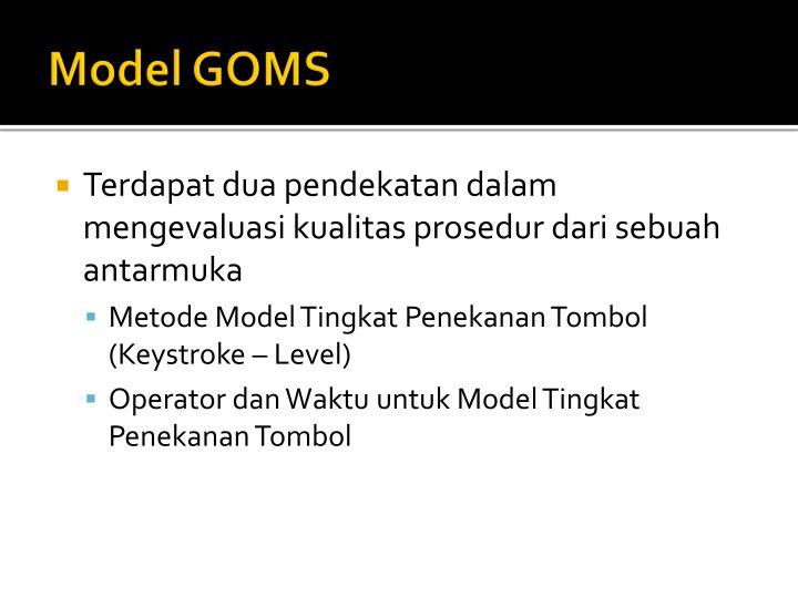 Model GOMS