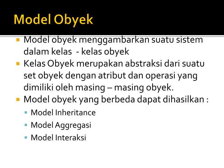 Model Obyek