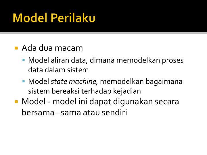 Model Perilaku