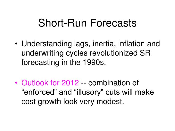 Short-Run Forecasts