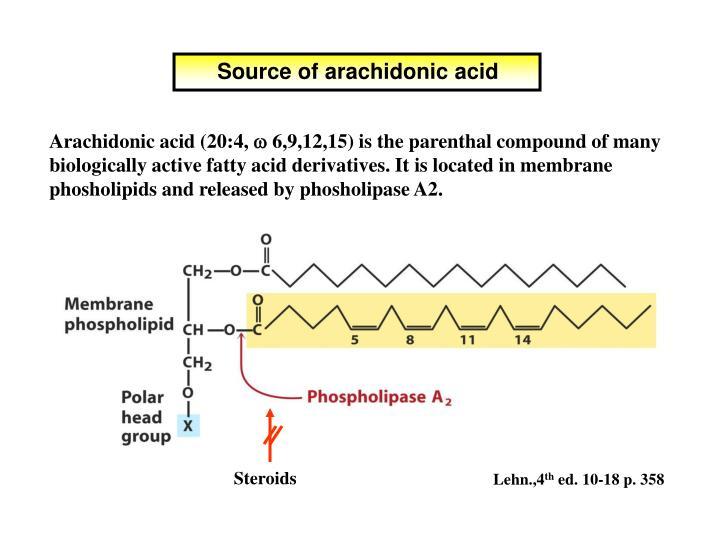 Source of arachidonic acid