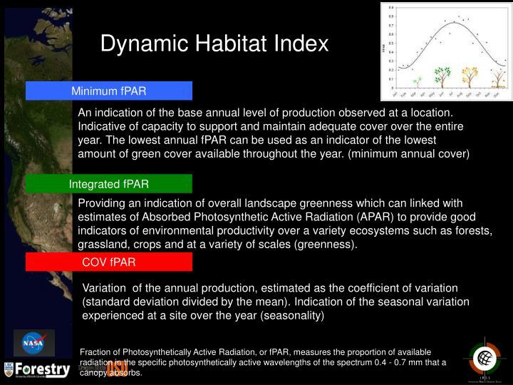 Dynamic Habitat Index