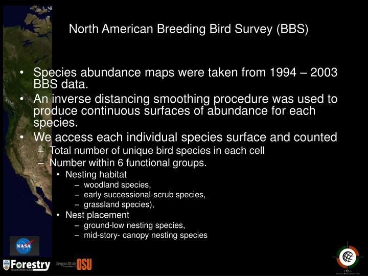 North American Breeding Bird Survey (BBS)