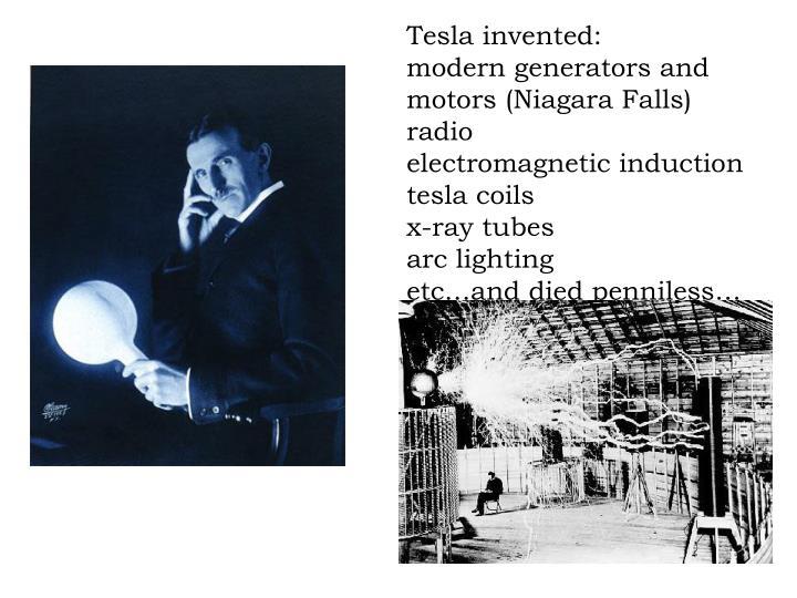 Tesla invented: