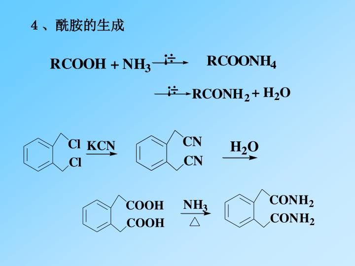 4、酰胺的生成