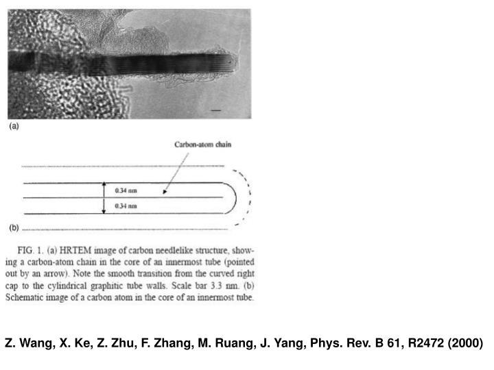 Z. Wang, X. Ke, Z. Zhu, F. Zhang, M. Ruang, J. Yang, Phys. Rev. B 61, R2472 (2000)