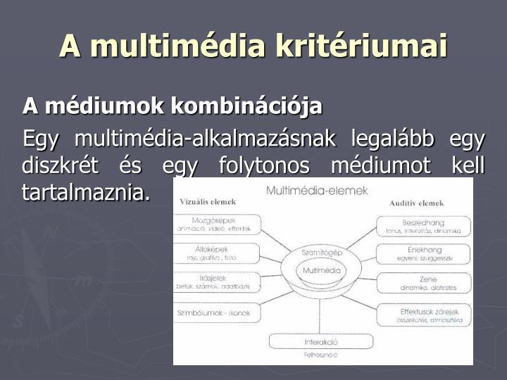 A multimédia kritériumai