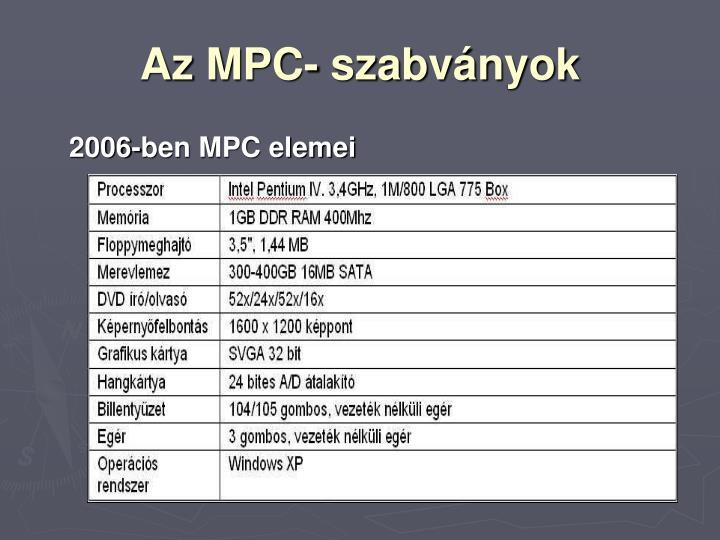 Az MPC- szabványok