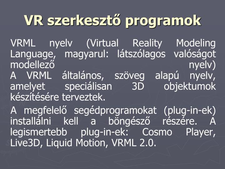 VR szerkesztő