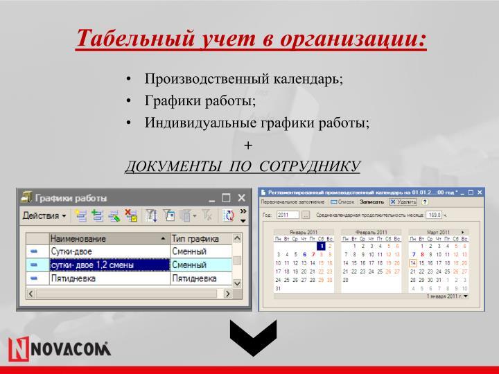 Табельный учет в организации:
