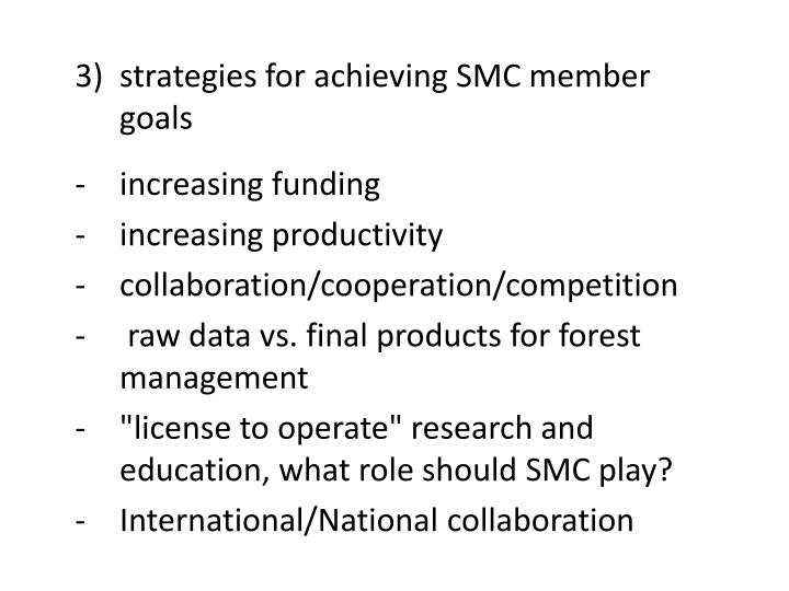 strategies for achieving SMC member goals