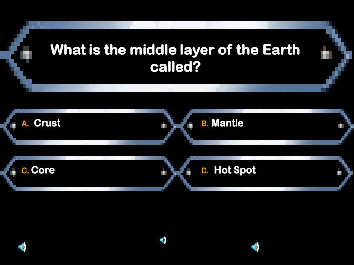 What is the middle layer of the Earth called?
