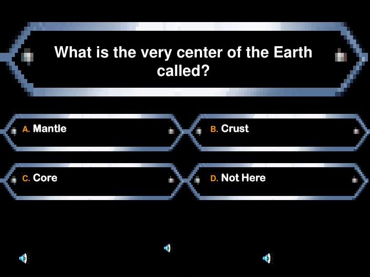 What is the very center of the Earth called?