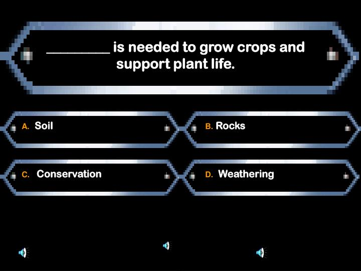 _________ is needed to grow crops and support plant life.