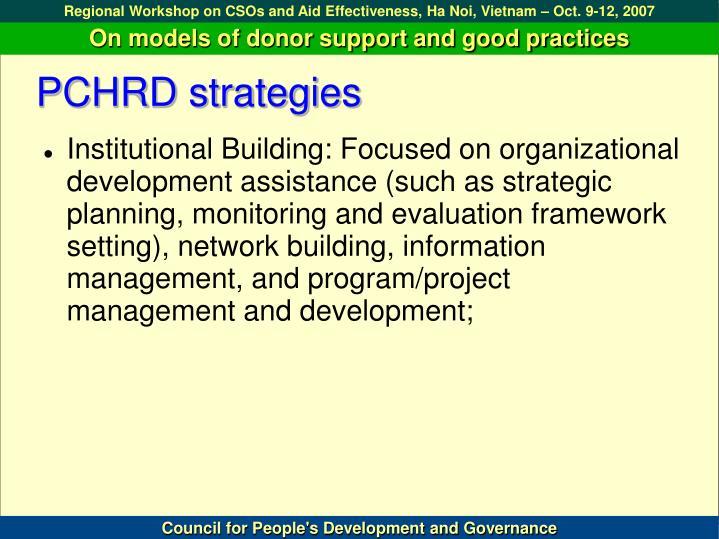 PCHRD strategies
