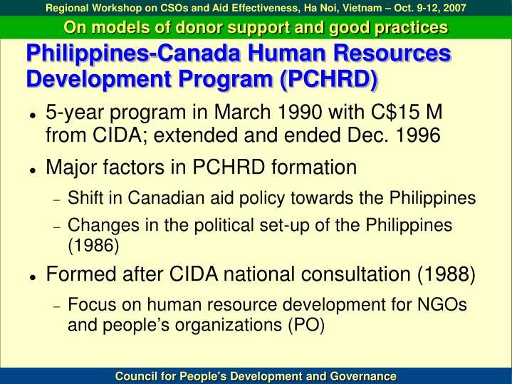 Philippines-Canada Human Resources Development Program (PCHRD)