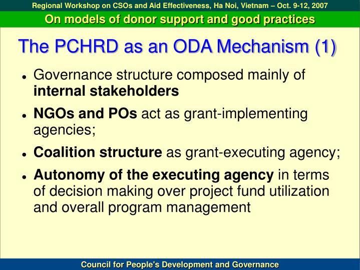 The PCHRD as an ODA Mechanism (1)