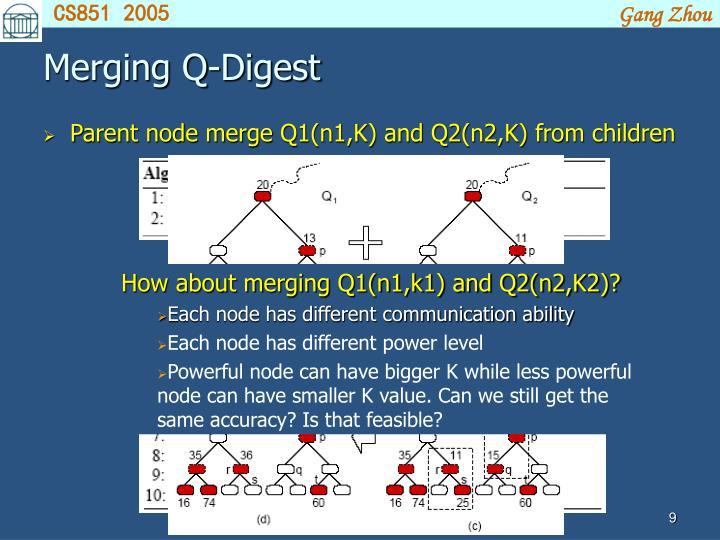 Merging Q-Digest