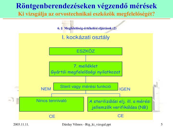 6. §  Megfelelőség-értékelési eljárások (2)