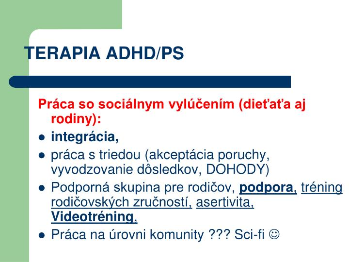 TERAPIA ADHD/PS