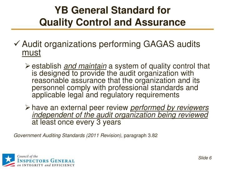 YB General Standard for