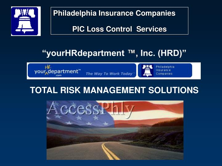 Yourhrdepartment inc hrd total risk management solutions