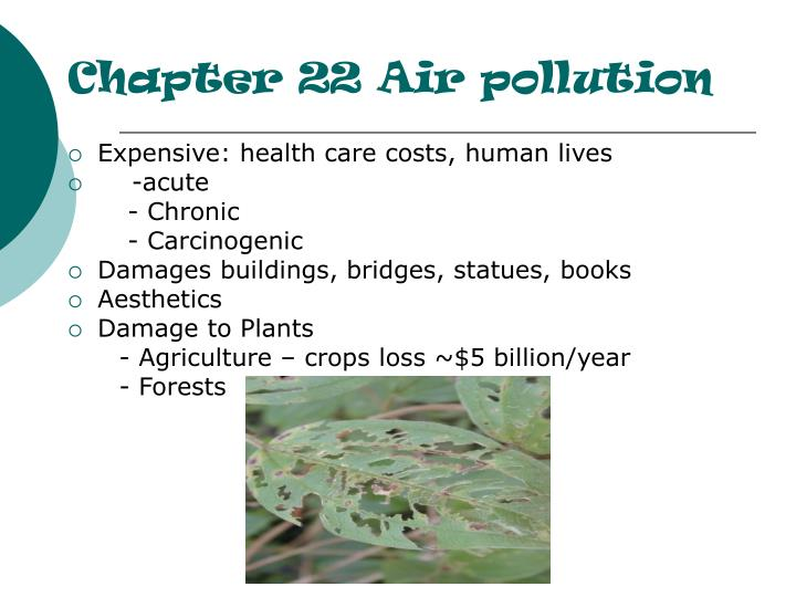 Chapter 22 Air pollution