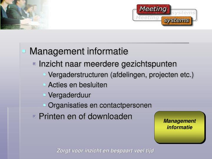 Management informatie