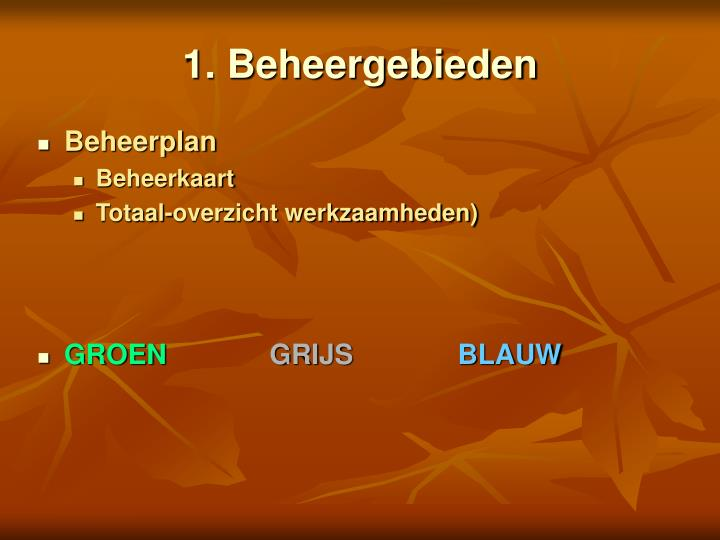 1. Beheergebieden