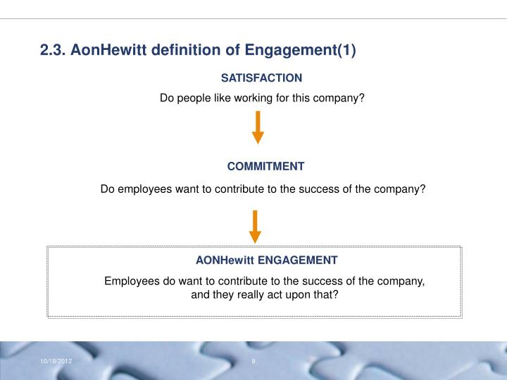 2.3. AonHewitt definition of Engagement(1)