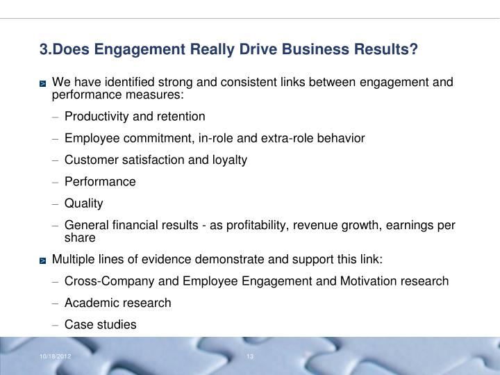 3.Does Engagement Really Drive Business Results?