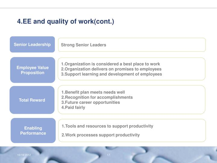 4.EE and quality of work(cont.)