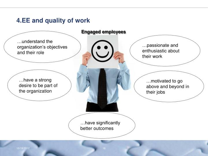 4.EE and quality of work