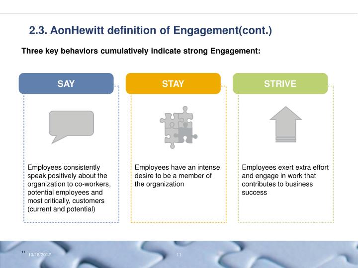2.3. AonHewitt definition of Engagement(cont.)