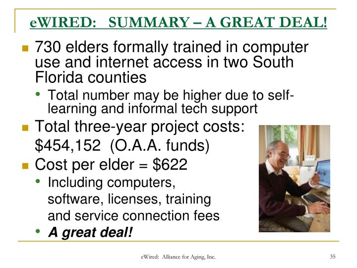 eWIRED:   SUMMARY – A GREAT DEAL!
