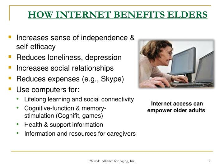 HOW INTERNET BENEFITS ELDERS