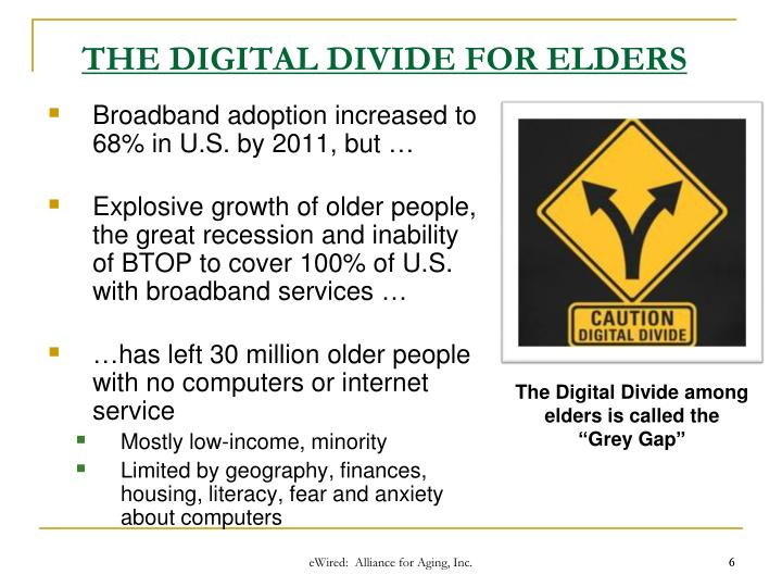 THE DIGITAL DIVIDE FOR ELDERS