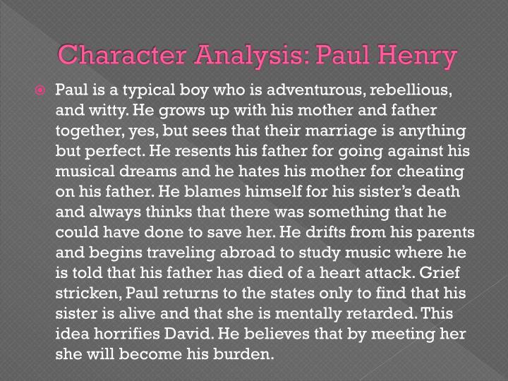 Character Analysis: Paul Henry