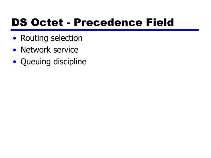 DS Octet - Precedence Fie
