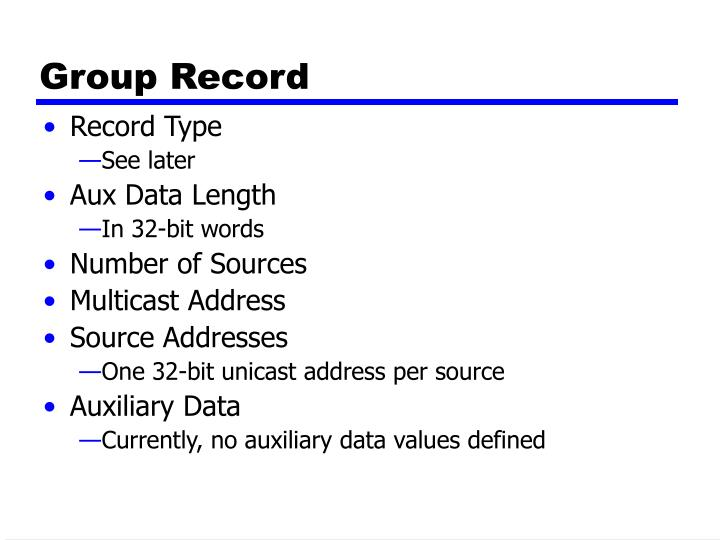 Group Record