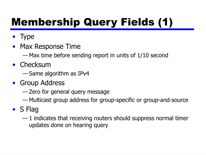 Membership Query Fields (1)