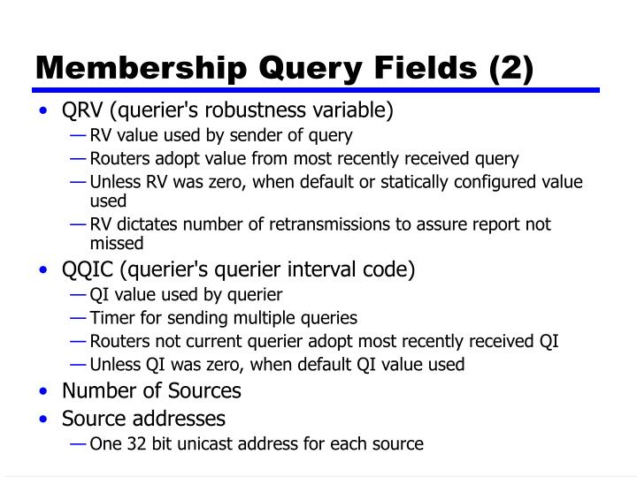 Membership Query Fields (2)