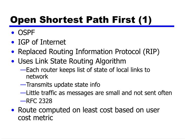 Open Shortest Path First (1)