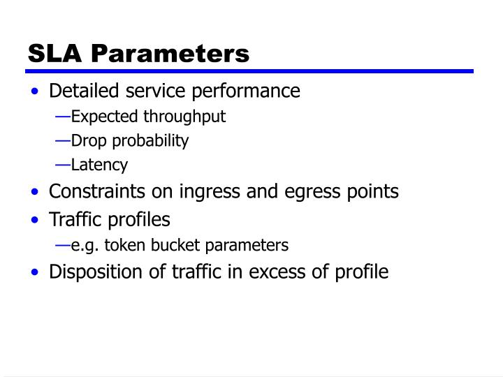 SLA Parameters