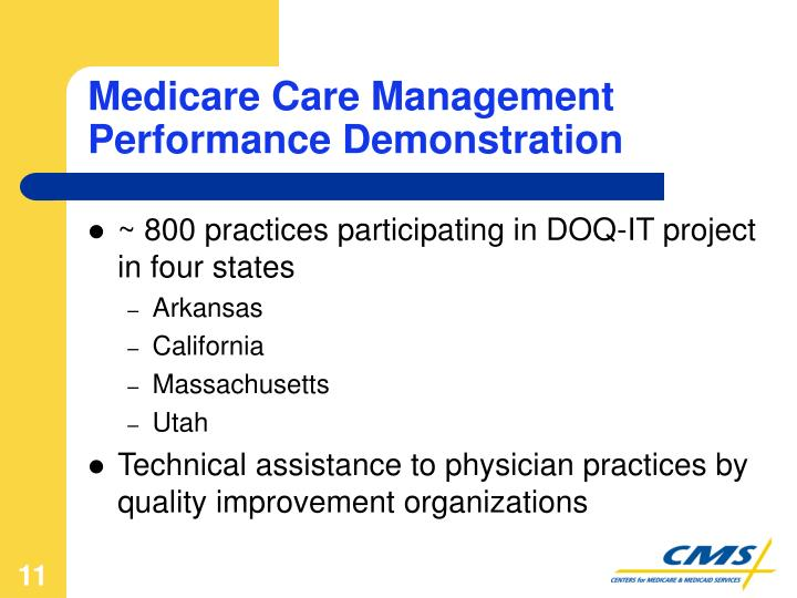 Medicare Care Management Performance Demonstration