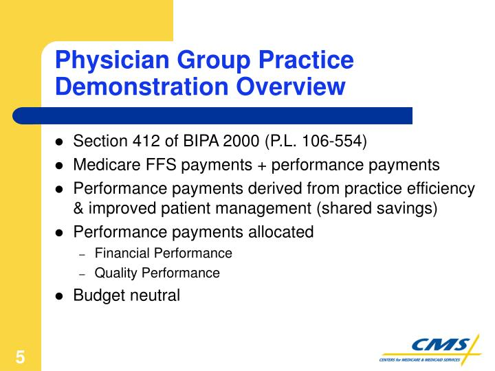 Physician Group Practice Demonstration Overview